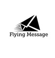 flying message design template vector image