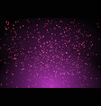 magic purple background with stars and stardust vector image