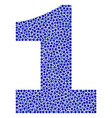 1 digit in dot style vector image