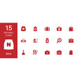 15 bag icons vector image vector image