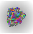 3d of basic geometric shapes an array of rainbow vector image