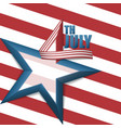 4th july star background vector image vector image