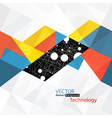 abstract technology background with connections vector image vector image