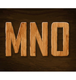 alphabet made wood vector image