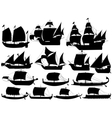 ancient sail boats vector image vector image