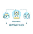 baby products concept icon vector image vector image