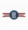 Blue Emblem with Presidents Day Sale Text vector image