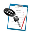 car rental agreement vector image