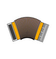 color sections silhouette of accordion with thick vector image