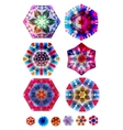 Colorful polygon geometric shapes for your design vector image