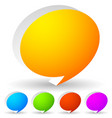 colorful speech bubbles icon editable graphics vector image