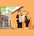 couple tourist vector image vector image