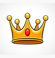 crown on white background vector image vector image