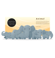 Cute animal family background with Elephants 2 vector image vector image