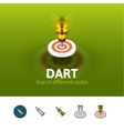 Dart icon in different style vector image