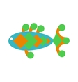 decorative fish flat icon isolated on white vector image vector image