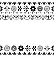 decorative-mexican-design-7b-monochrome vector image