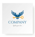 eagle falcon hawk with key for real estate vector image vector image