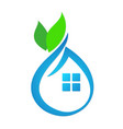 eco house abstract vector image vector image