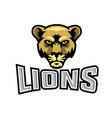 female lion head logo vector image vector image