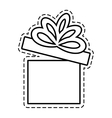 gift box ribbon bow party beauty open cut line vector image vector image