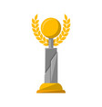 golden award trophy with wreath vector image