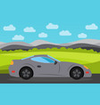 gray sports car vector image vector image