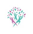 group people community togetherness unity logo vector image vector image