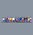 group people standing together diverse men vector image vector image