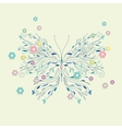 Hand drawing sketch butterfly vector image