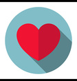 Heart icon flat design vector image vector image