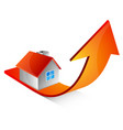 home and up arrow design vector image