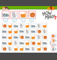 how many cats counting game for kids vector image vector image