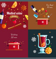 how to make mulled wine infographic concept vector image vector image