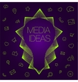 idea in light bulbs flat style vector image