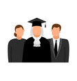 judge lawyer and procurator icons vector image vector image