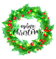 merry christmas greeting card template background vector image