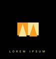 modern creative shaped aa aa a a logo initial
