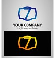 Number 7 logo logotype design vector image vector image