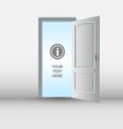 Open white door template vector image