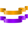 orange and purple ribbon banners vector image vector image