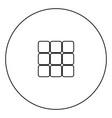 panel enter icon black color in circle vector image vector image