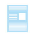 paper document school or office isolated icon vector image
