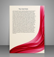 Paper flyer template or banner Brochure design for vector image
