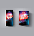 party flyerposter templateabstract background vector image vector image
