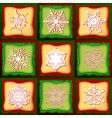 patchwork Christmas vector image vector image