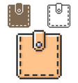 pixel icon wallet in three variants fully vector image