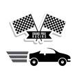 Racing School design vector image vector image