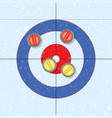 red and yellow curling stones vector image vector image