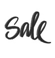sale hand lettering vector image vector image